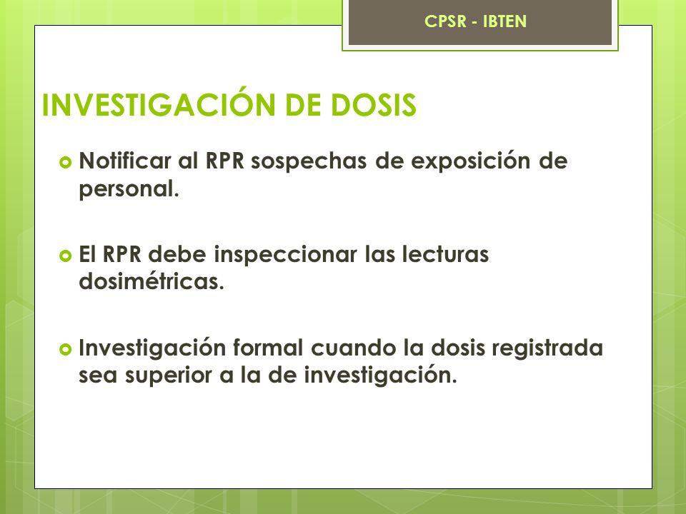 INVESTIGACIÓN DE DOSIS