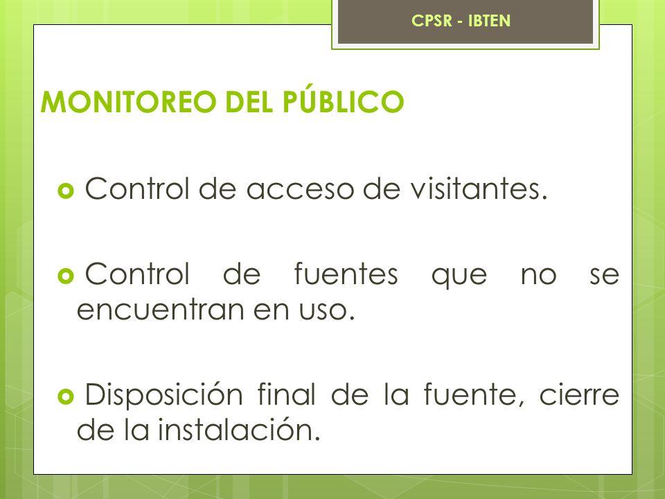 Control de acceso de visitantes.