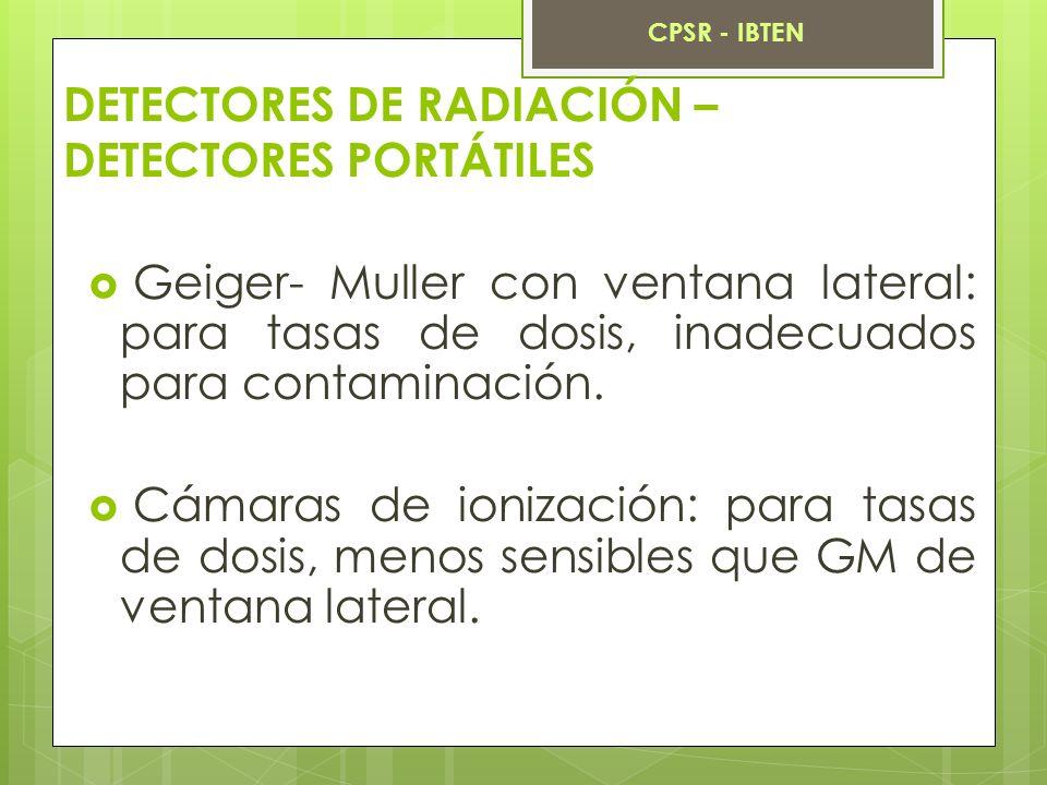 DETECTORES DE RADIACIÓN – DETECTORES PORTÁTILES