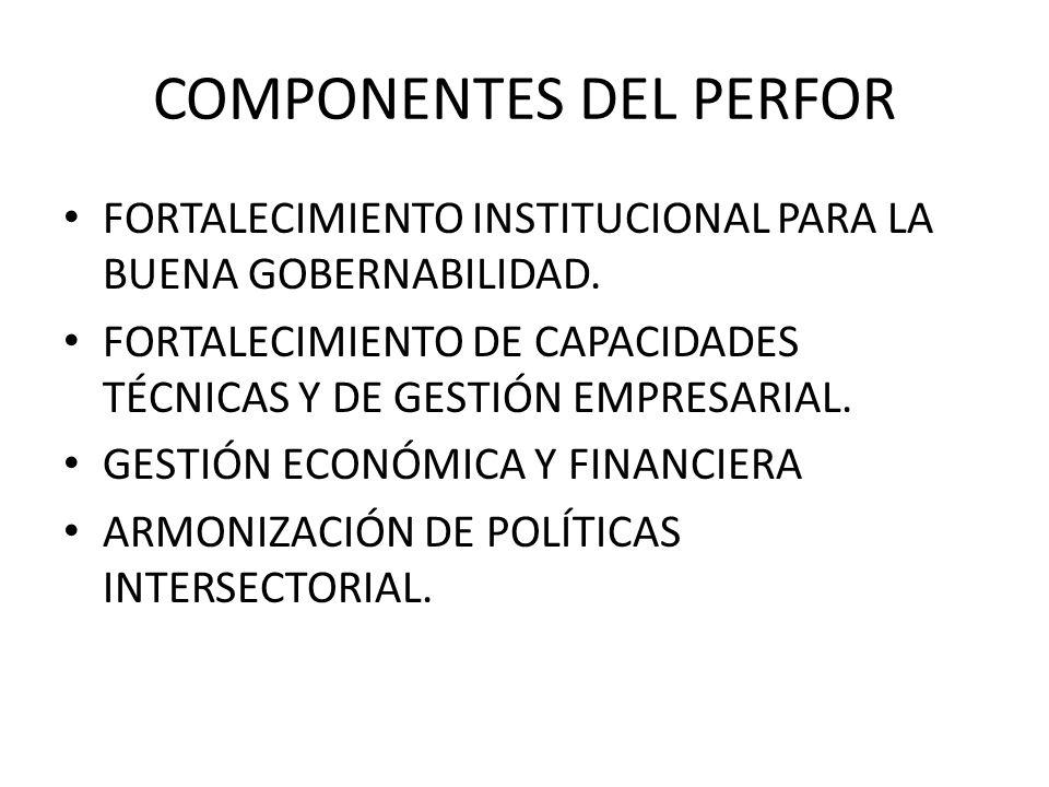 COMPONENTES DEL PERFOR
