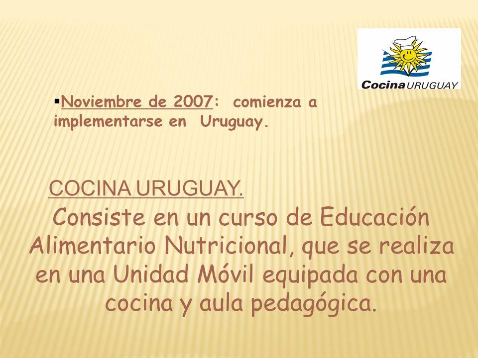Noviembre de 2007: comienza a implementarse en Uruguay.