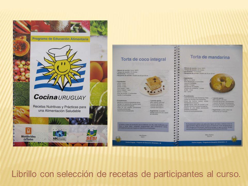Librillo con selección de recetas de participantes al curso.