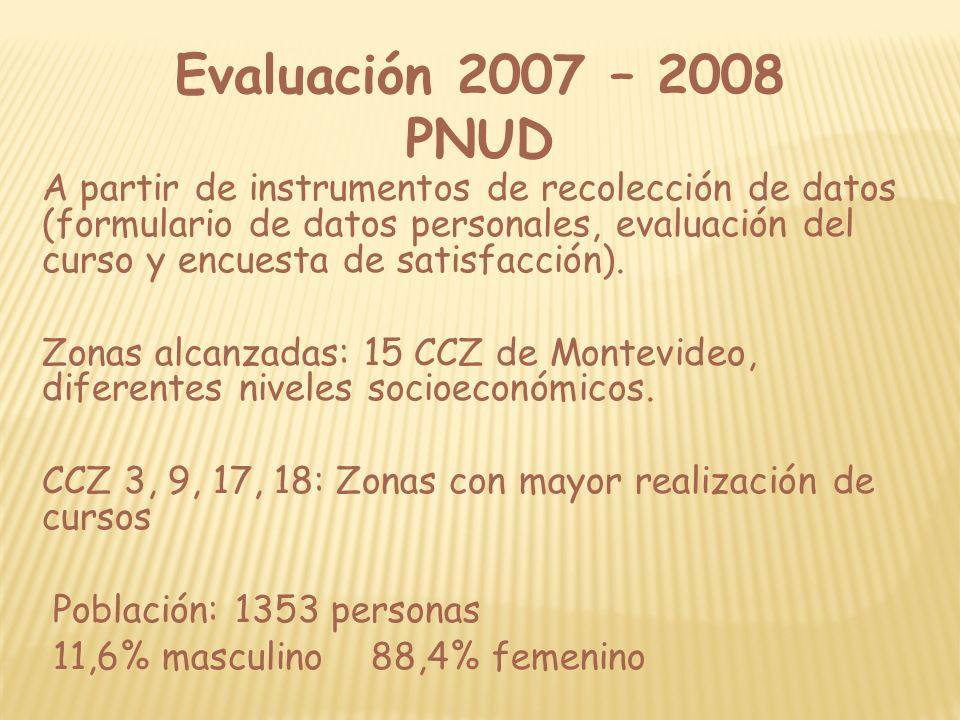 Evaluación 2007 – 2008 PNUD