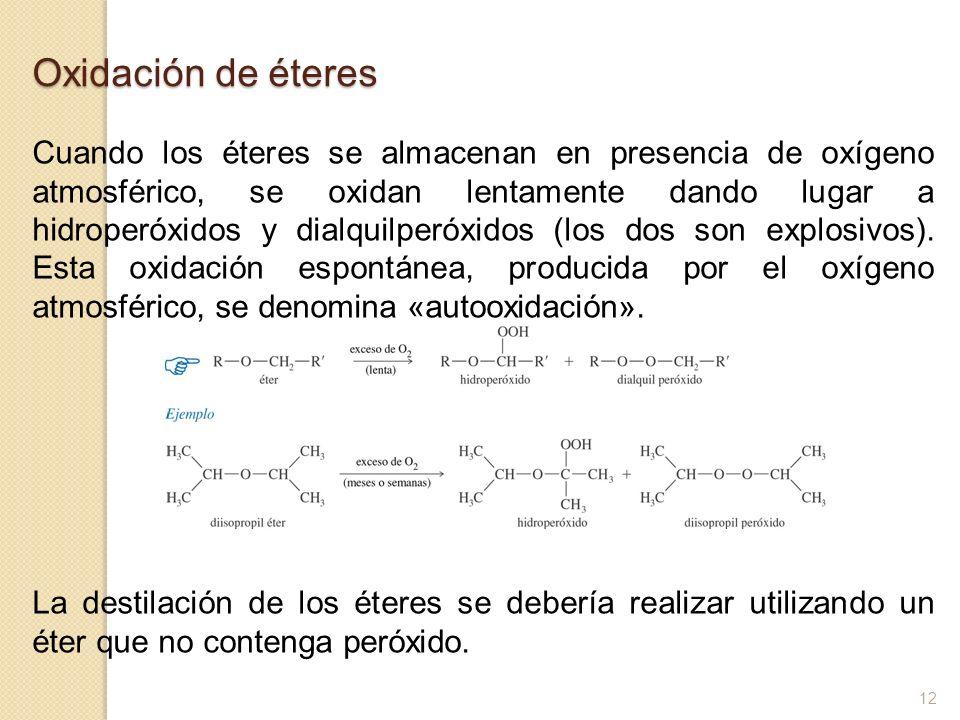 Oxidación de éteres