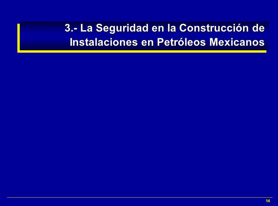 3.- La Seguridad en la Construcción de Instalaciones en Petróleos Mexicanos