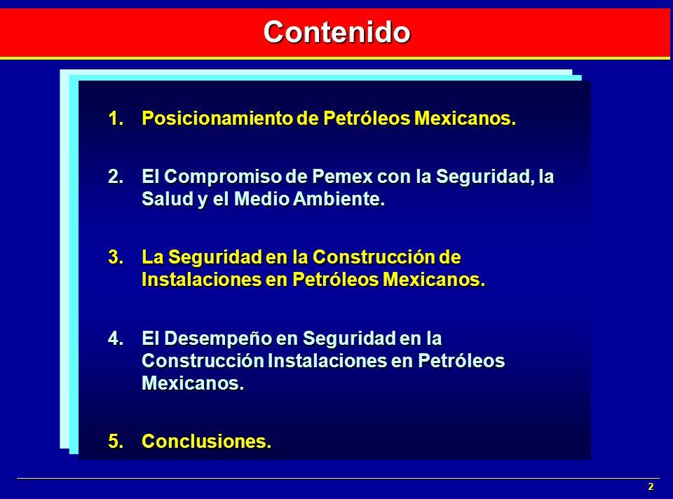 Contenido Posicionamiento de Petróleos Mexicanos.
