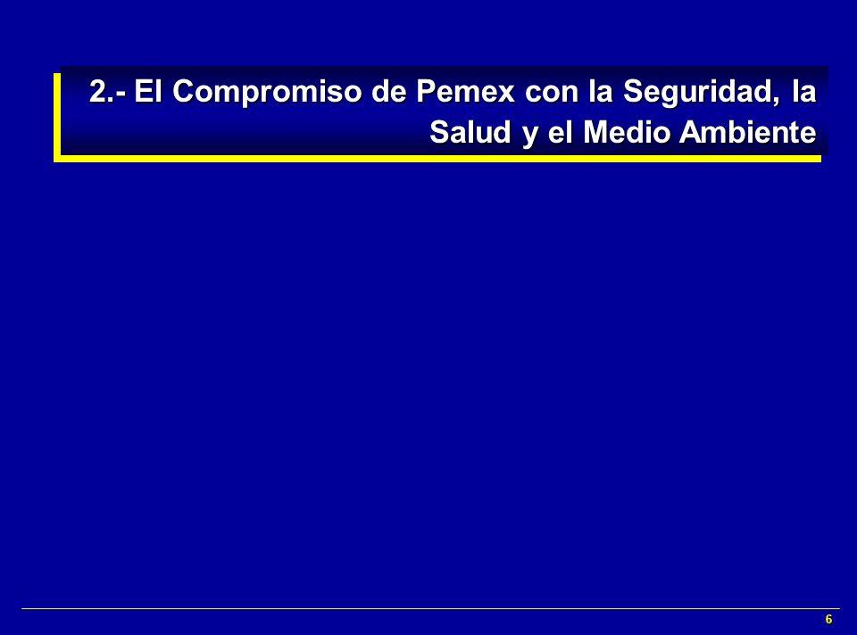 2.- El Compromiso de Pemex con la Seguridad, la Salud y el Medio Ambiente