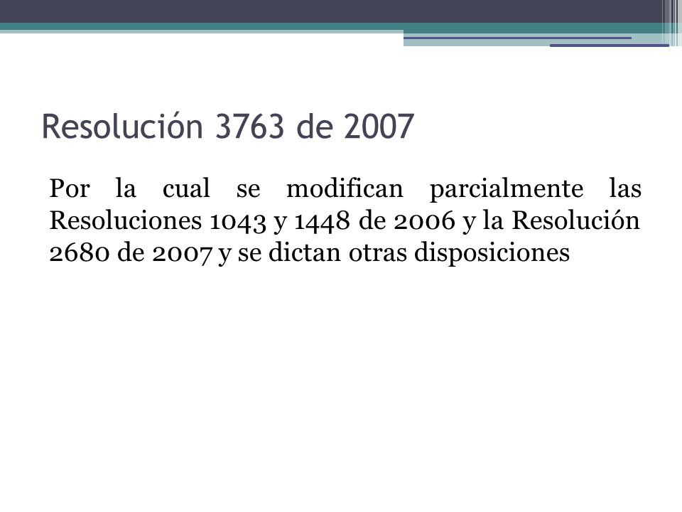 Resolución 3763 de 2007