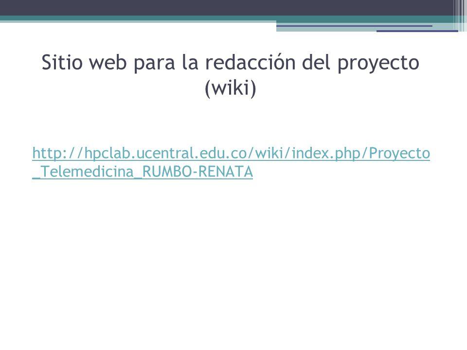 Sitio web para la redacción del proyecto (wiki)