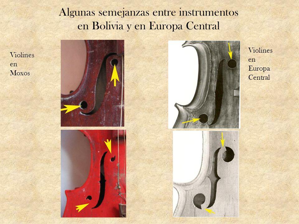 Algunas semejanzas entre instrumentos en Bolivia y en Europa Central