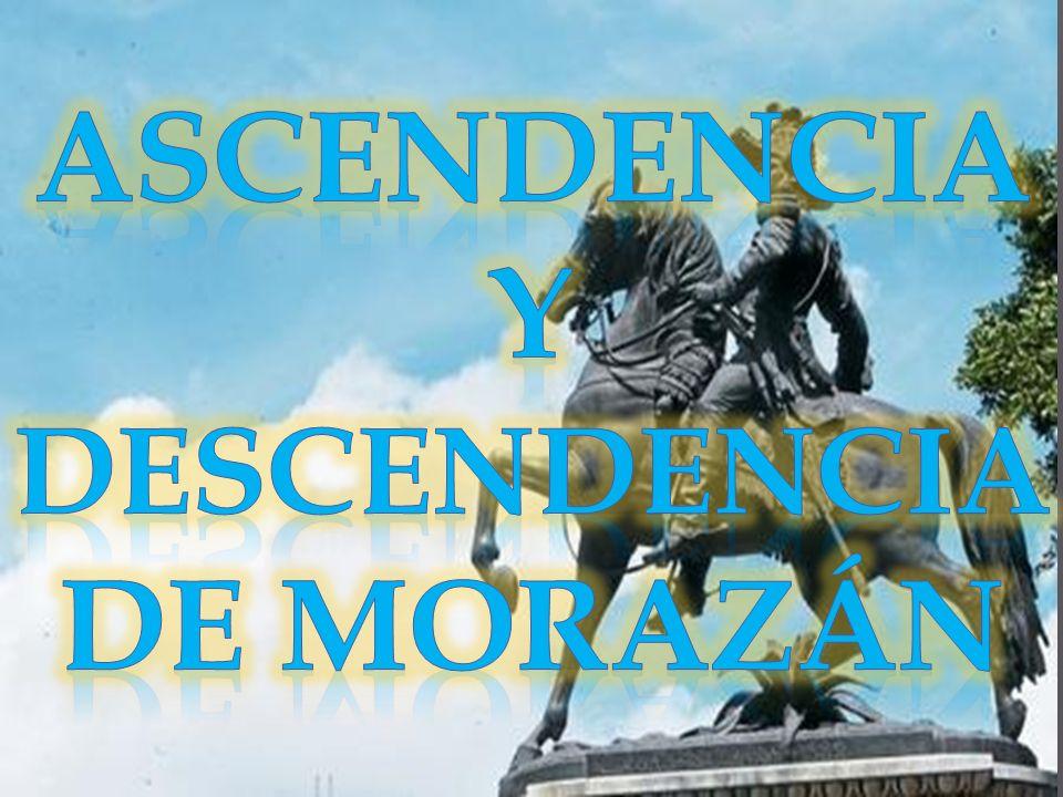 ASCENDENCIA Y DESCENDENCIA DE MORAZÁN