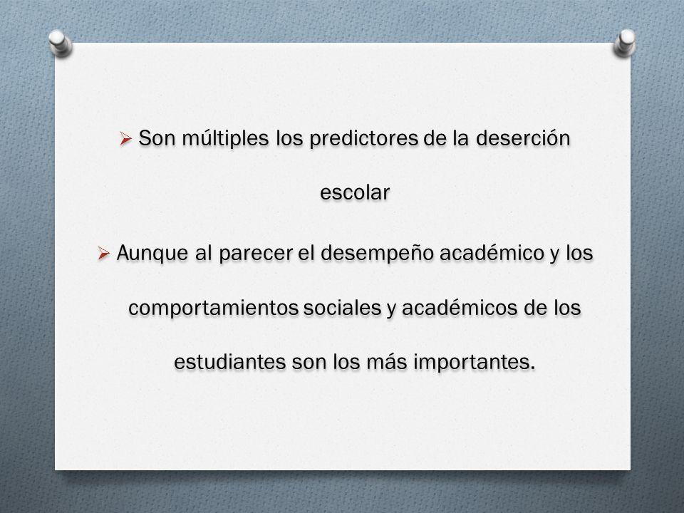 Son múltiples los predictores de la deserción escolar