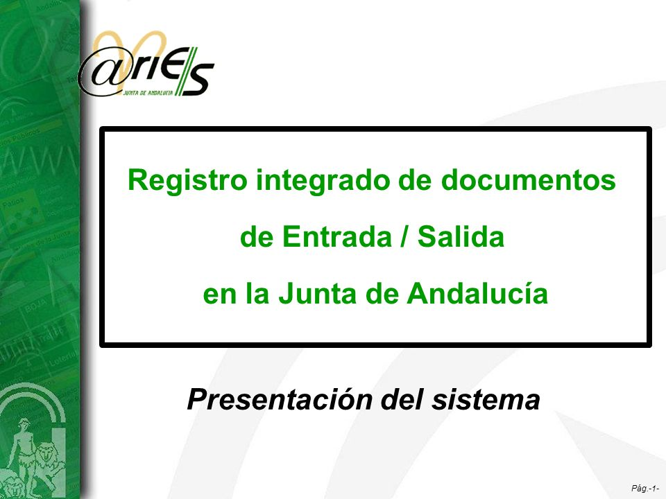 Registro integrado de documentos en la junta de andaluc a for Oficina virtual junta de andalucia