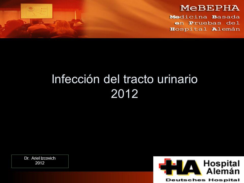 Infección del tracto urinario 2012