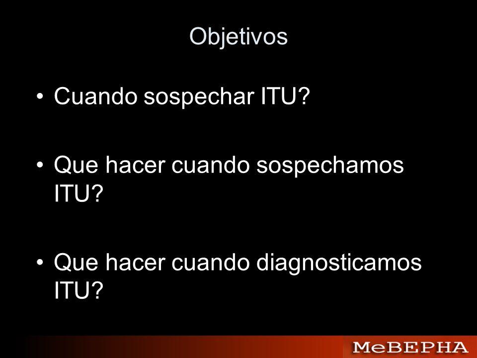 Objetivos Cuando sospechar ITU. Que hacer cuando sospechamos ITU.
