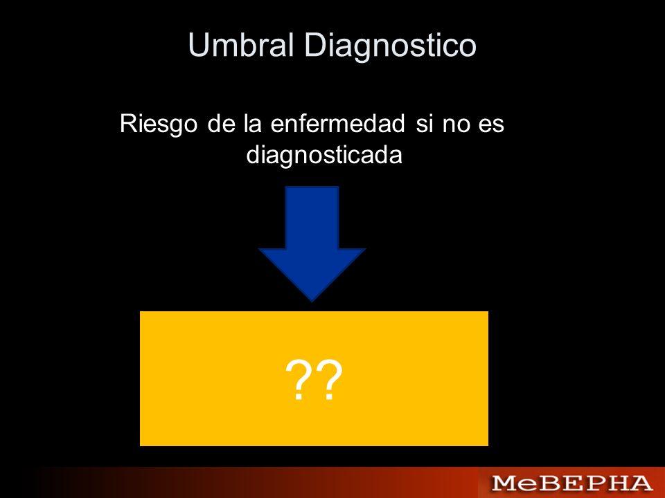 Riesgo de la enfermedad si no es diagnosticada