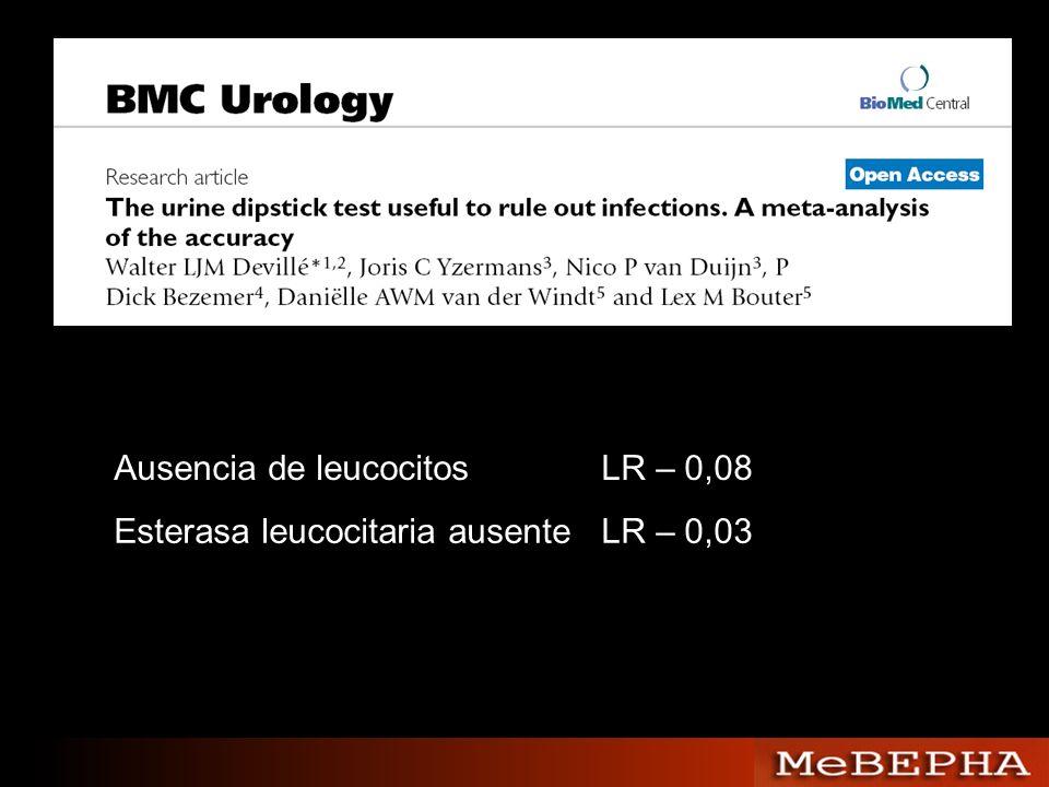 Ausencia de leucocitos