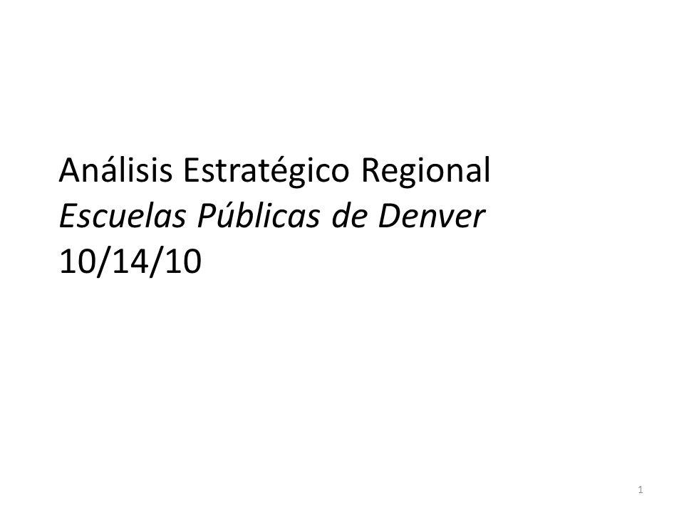 Análisis Estratégico Regional Escuelas Públicas de Denver 10/14/10