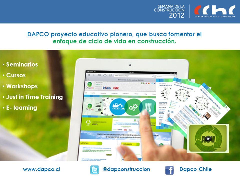 DAPCO proyecto educativo pionero, que busca fomentar el enfoque de ciclo de vida en construcción.