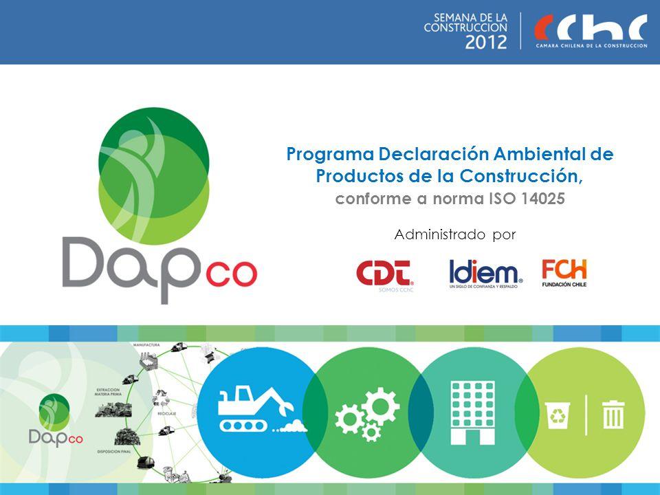 Programa Declaración Ambiental de Productos de la Construcción, conforme a norma ISO 14025