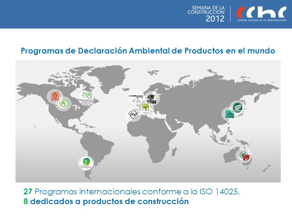 Programas de Declaración Ambiental de Productos en el mundo