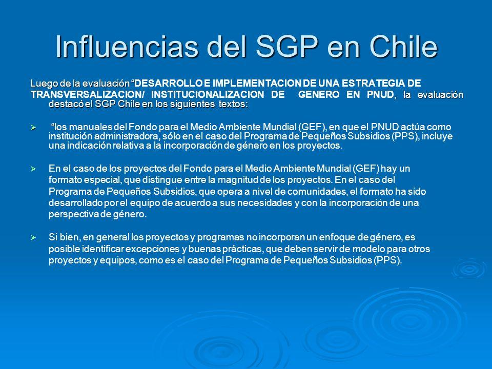 Influencias del SGP en Chile