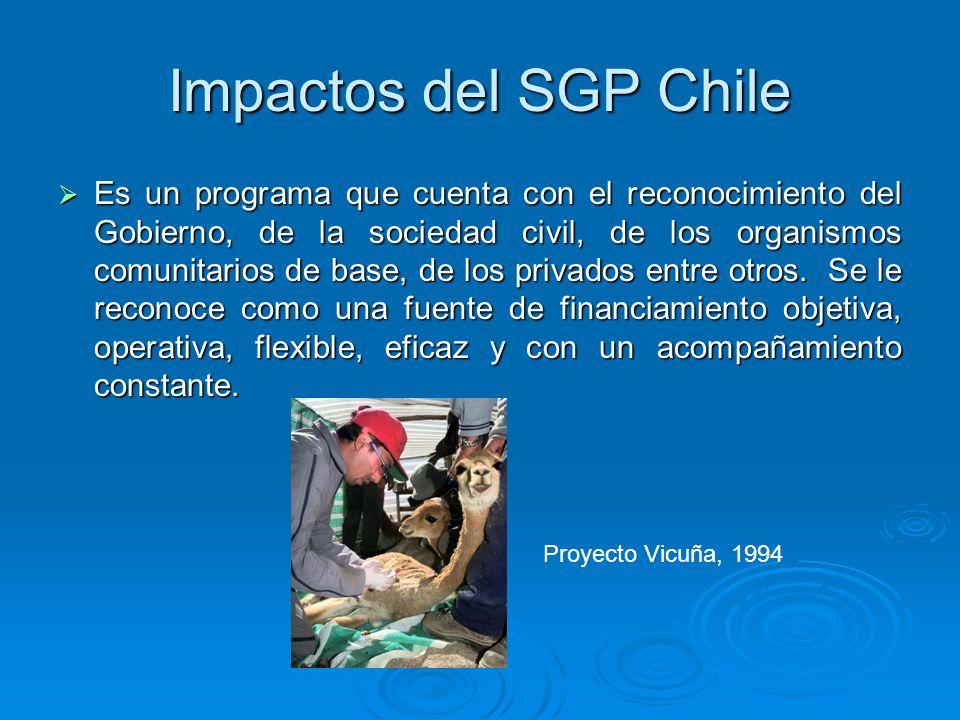 Impactos del SGP Chile