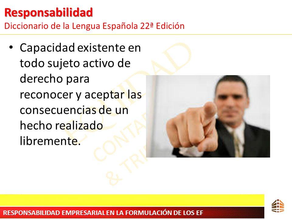 Responsabilidad Diccionario de la Lengua Española 22ª Edición