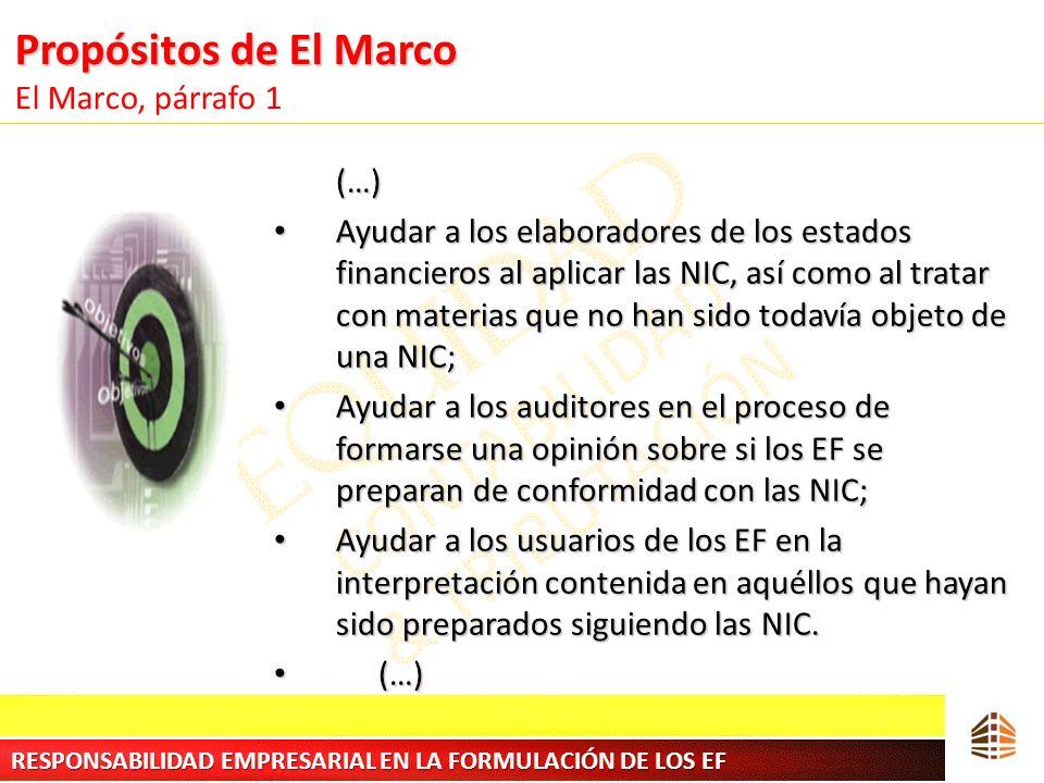 Propósitos de El Marco El Marco, párrafo 1