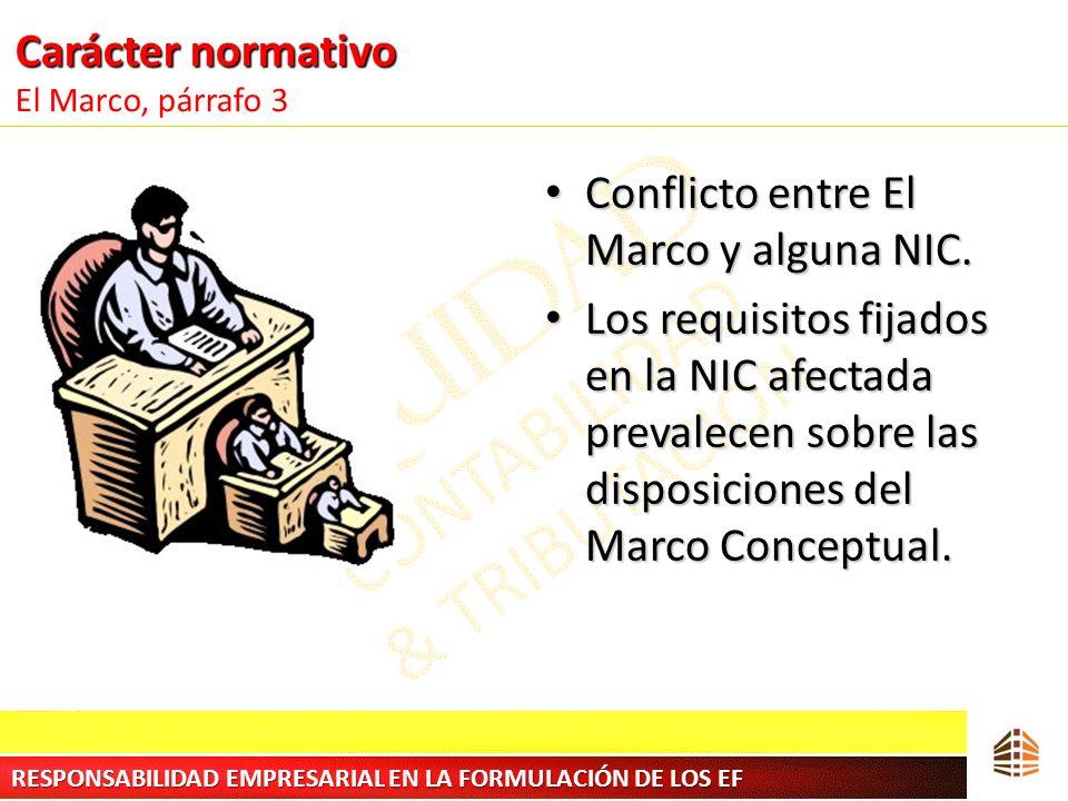 Carácter normativo El Marco, párrafo 3
