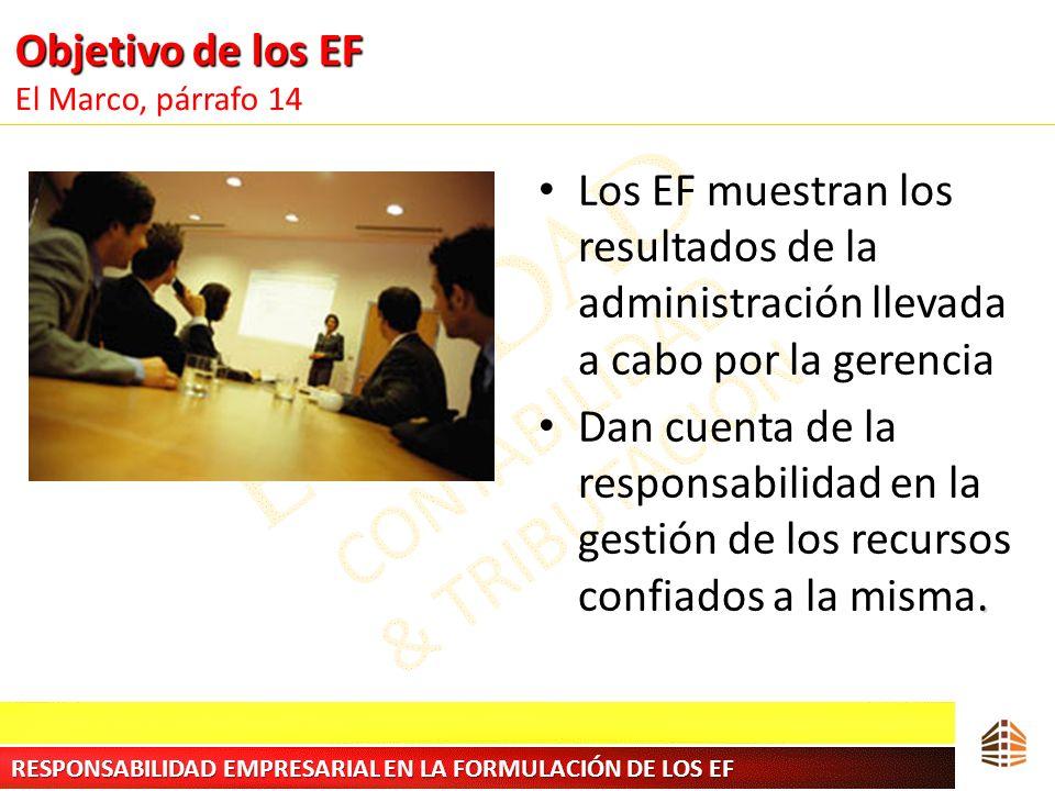 Objetivo de los EF El Marco, párrafo 14
