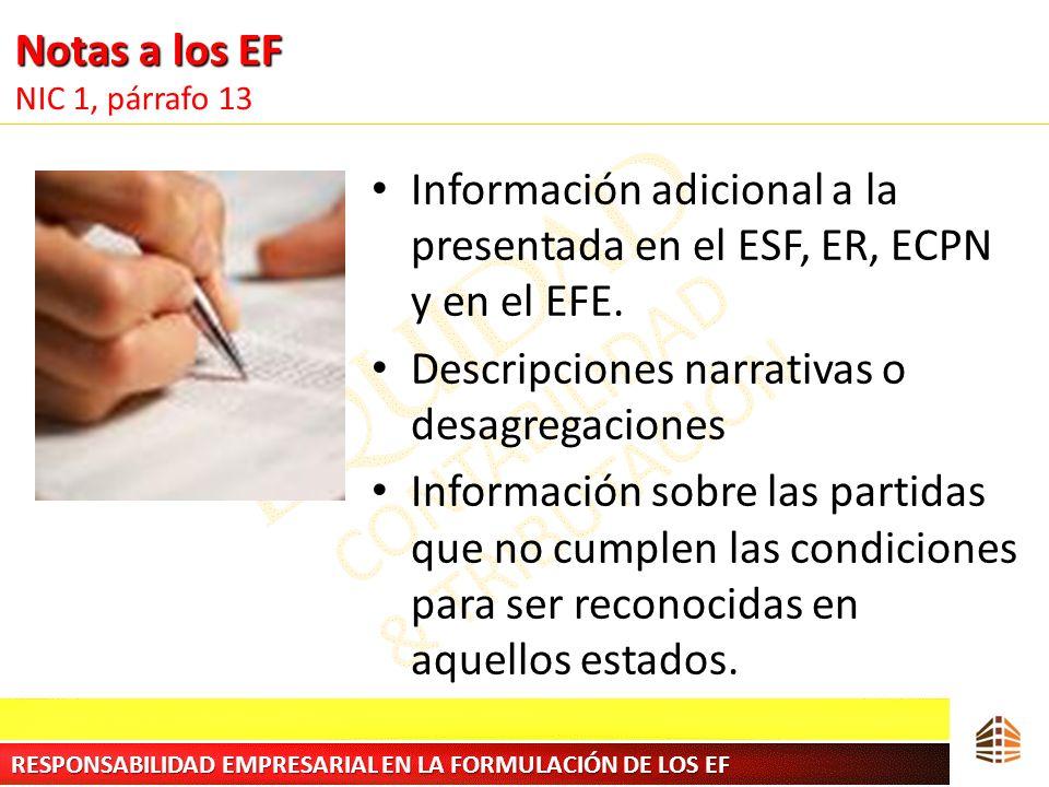 Notas a los EF NIC 1, párrafo 13