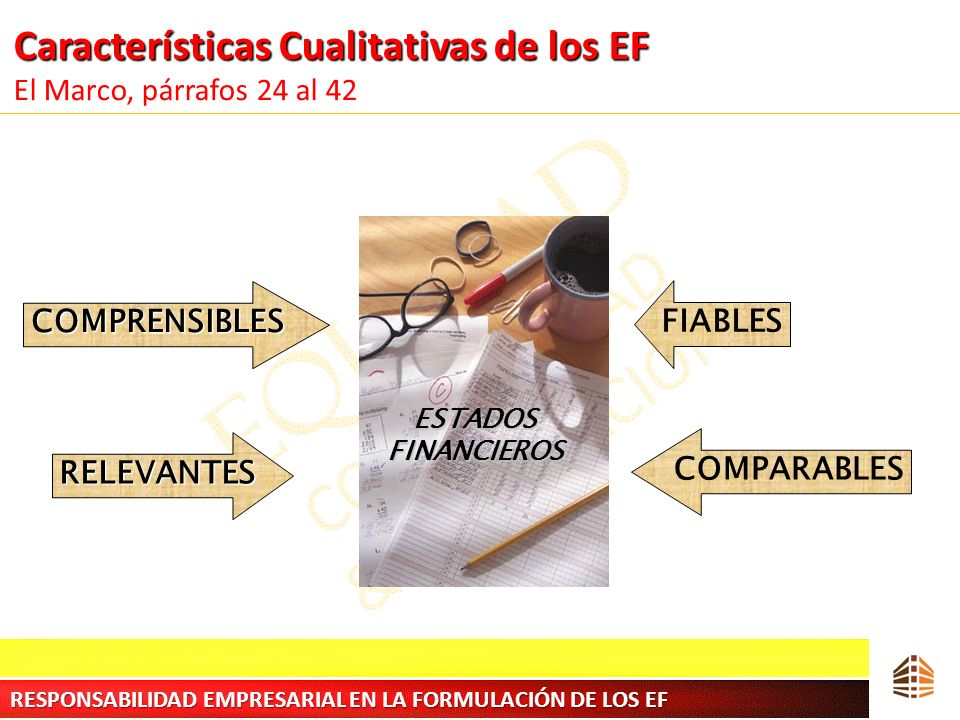Características Cualitativas de los EF El Marco, párrafos 24 al 42