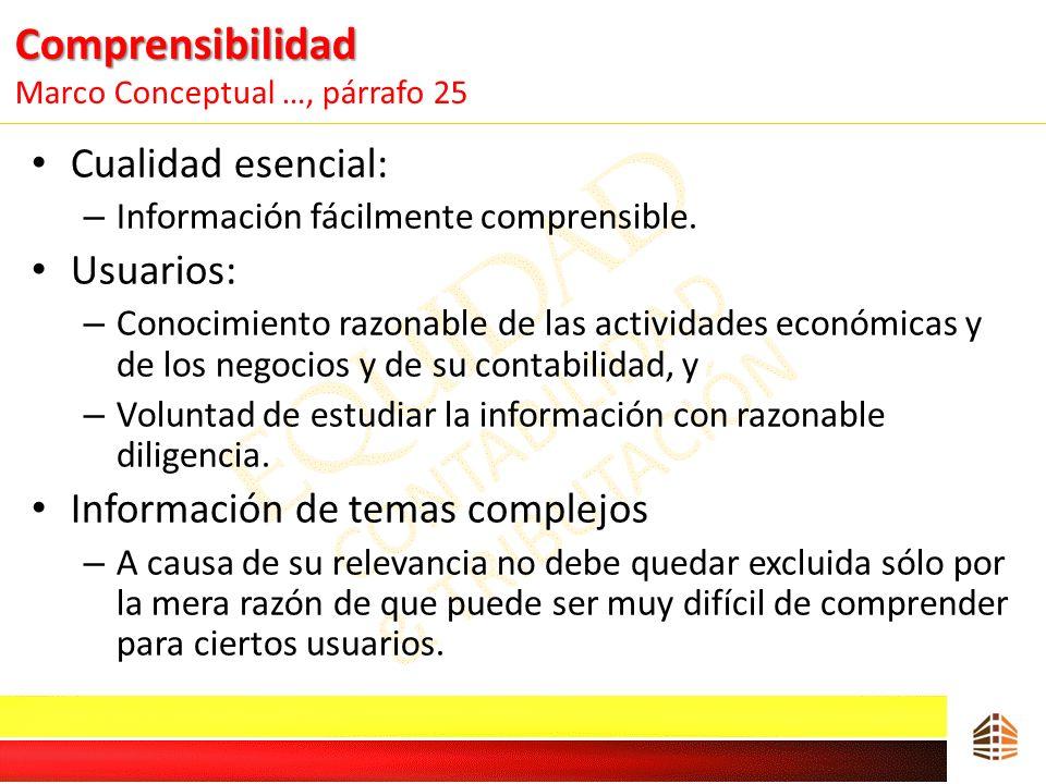 Comprensibilidad Marco Conceptual …, párrafo 25