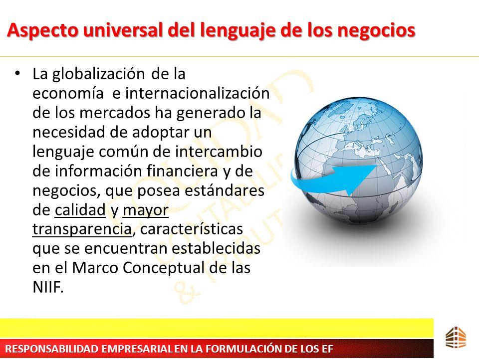Aspecto universal del lenguaje de los negocios