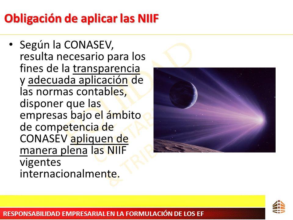 Obligación de aplicar las NIIF