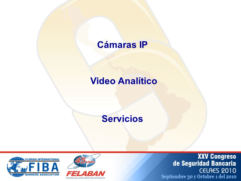 Cámaras IP Video Analítico Servicios