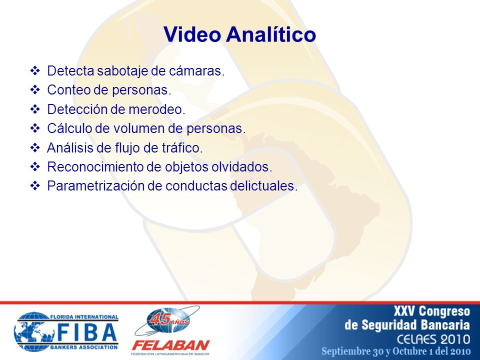 Video Analítico Detecta sabotaje de cámaras. Conteo de personas.