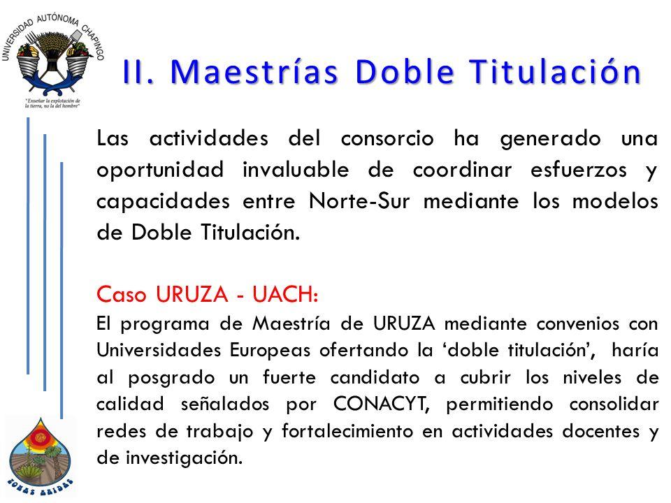 II. Maestrías Doble Titulación