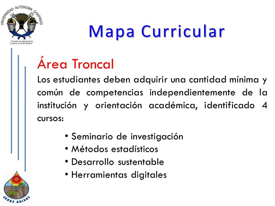 Mapa Curricular Área Troncal