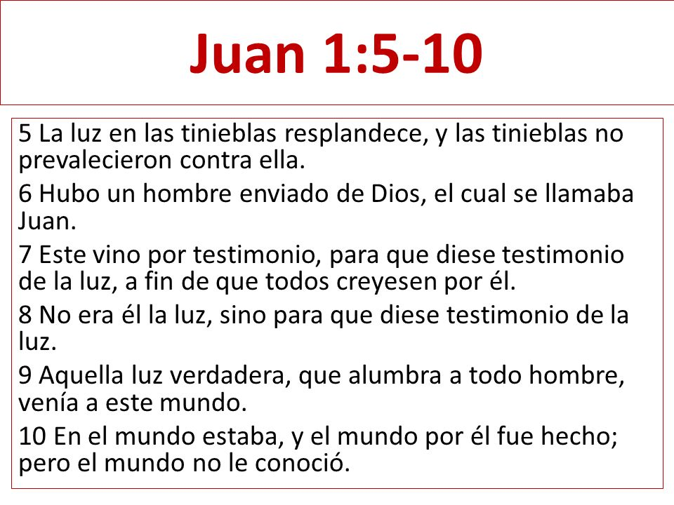 Juan 1:5-10