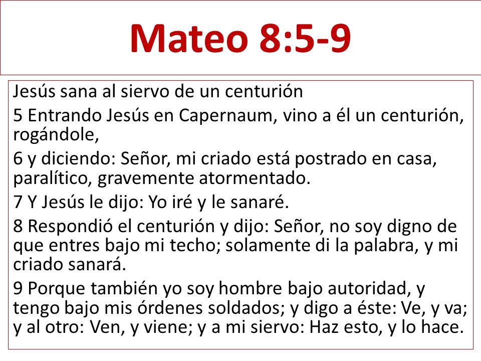 Mateo 8:5-9