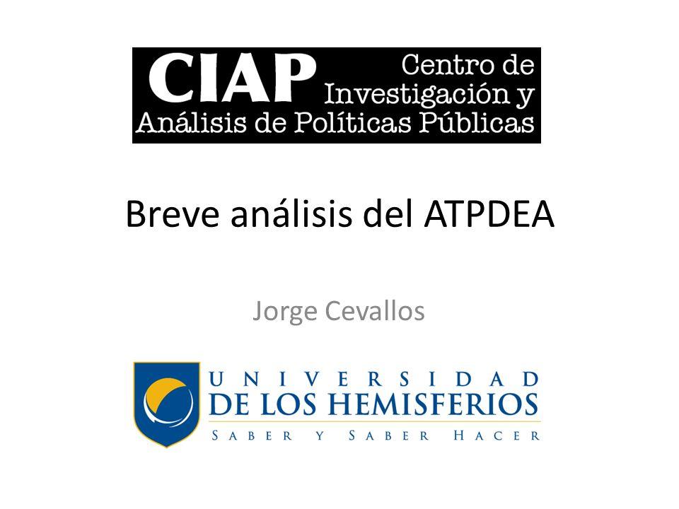 Breve análisis del ATPDEA