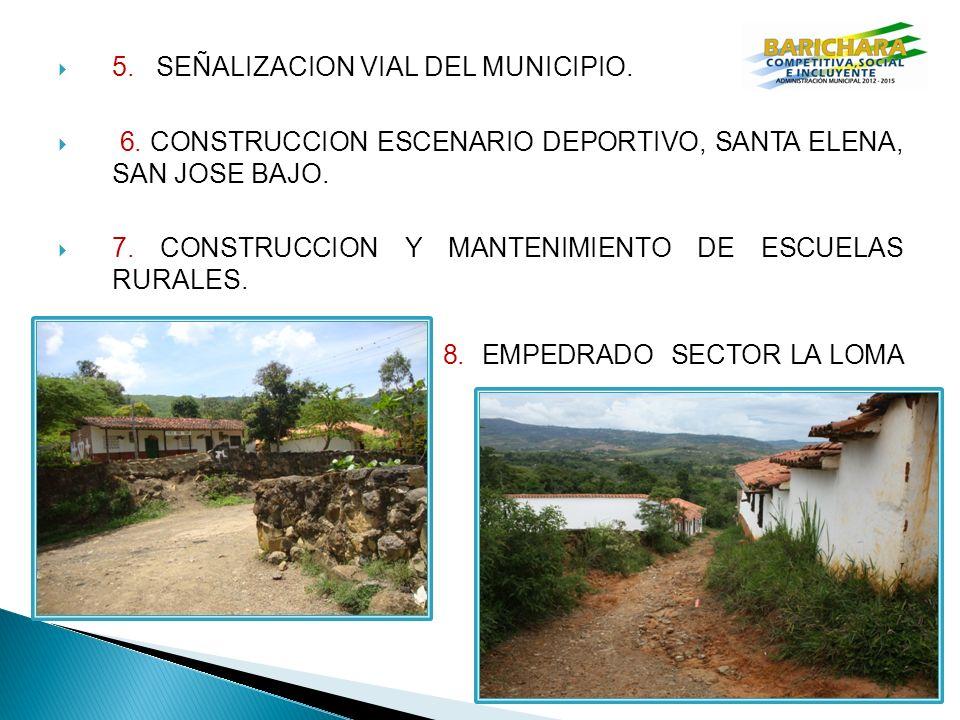 5. SEÑALIZACION VIAL DEL MUNICIPIO.