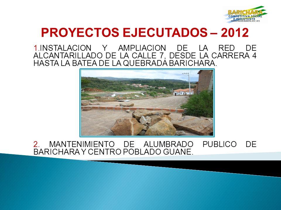 PROYECTOS EJECUTADOS – 2012