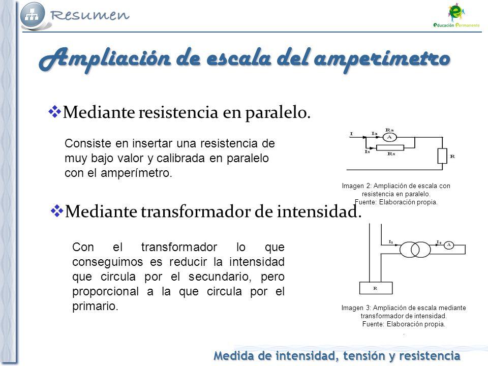 Ampliación de escala del amperímetro