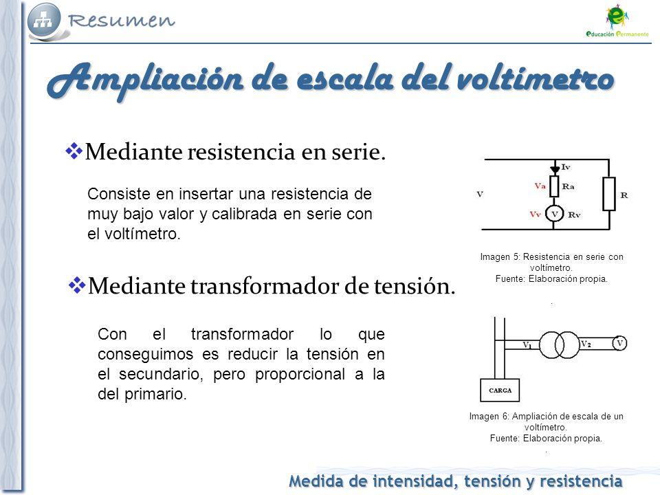 Ampliación de escala del voltímetro