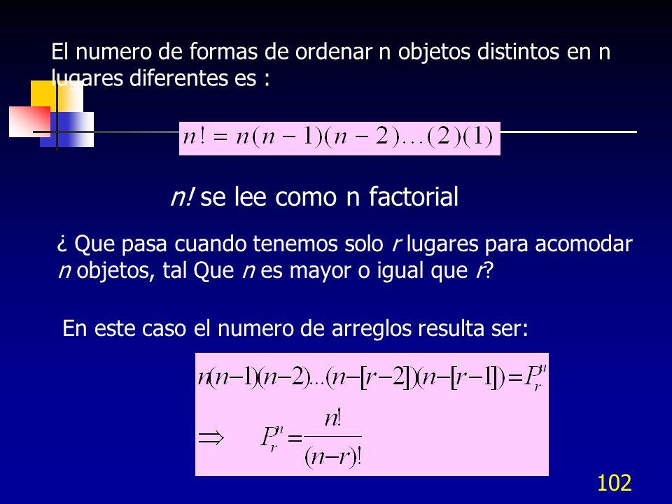 n! se lee como n factorial