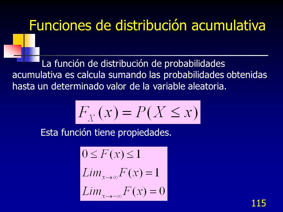 Funciones de distribución acumulativa
