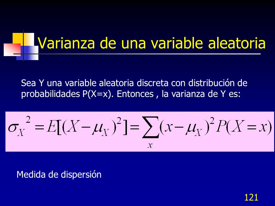 Varianza de una variable aleatoria